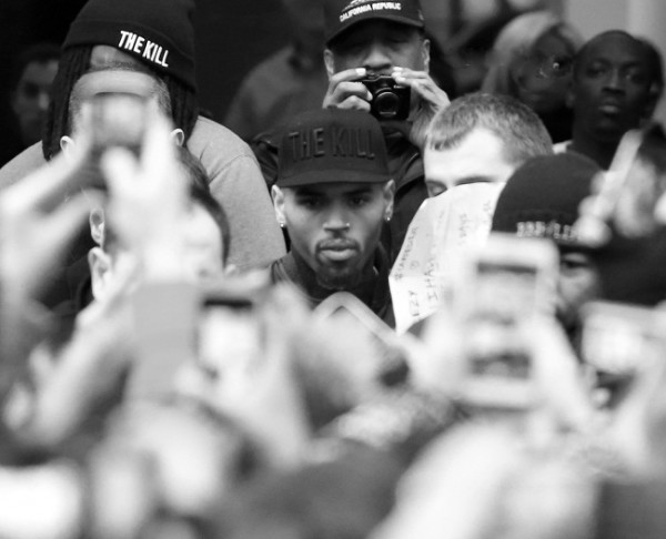 Chris Brown in Paris promoting his ex new clothing line