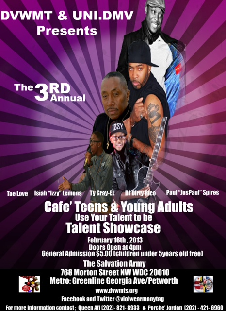 2013 Cafe Teen and Young Adults Talent Show-Feb 16th